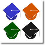image of mortarboard hats