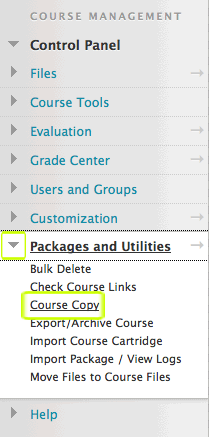 course copy option