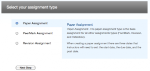 Selecting Paper Assignment