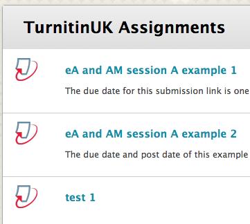 turnitin assignment list