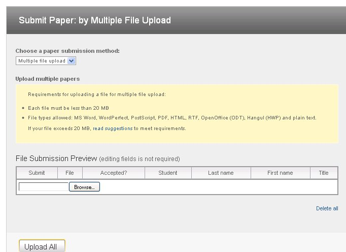 Turnitin multiple file upload