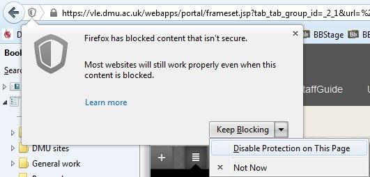 FF25 unblocking content