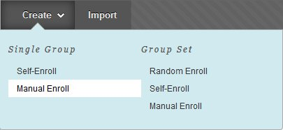 Selecting manual enroll