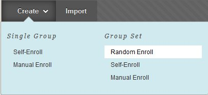 Creating a random enroll group set