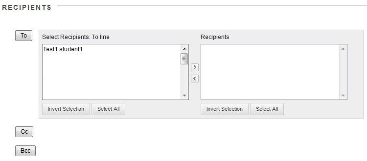 Adding message recipients
