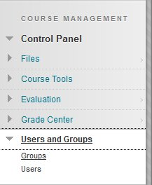 Accessing Groups from the Control Panel