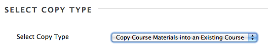 course copy type menu