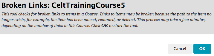 check course links