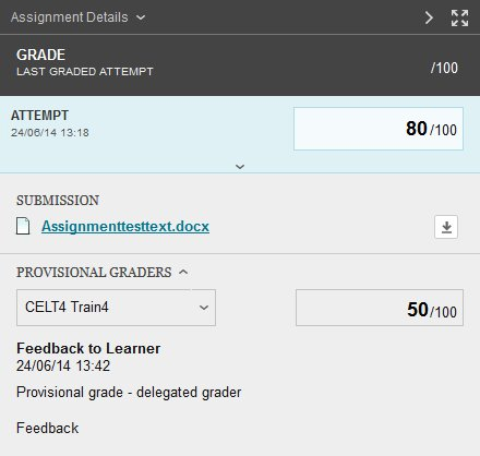 View of all feedback and provisional grades