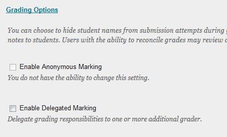 Selecting Grading Options