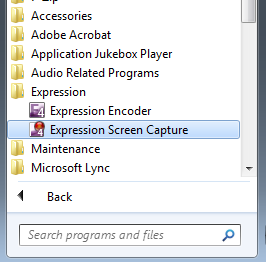 expression screen capture