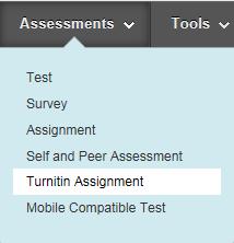 Add a turnitin assignment
