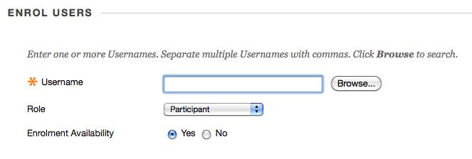 enter user name option
