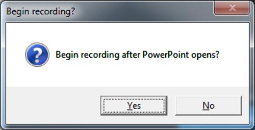 The Begin Recording button