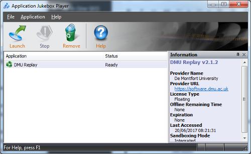 DMU Replay in the CloudPaging player