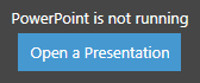 The Open a Presentation button