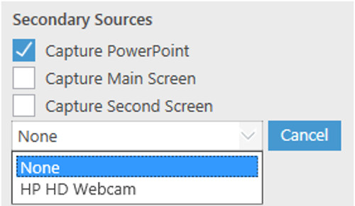 Selecting a secondary video source