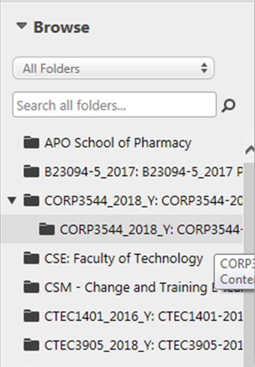 Selecting the Assignment Folder