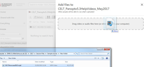 Drag and Drop media into DMU Replay