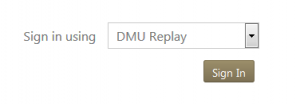 image of dmu replay sign in button