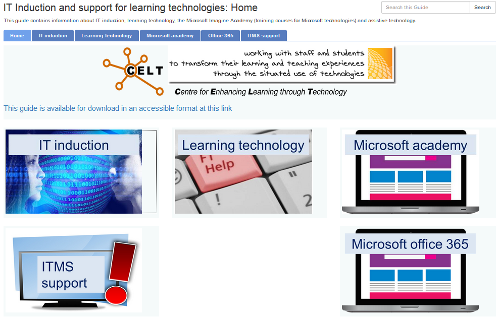 student support website