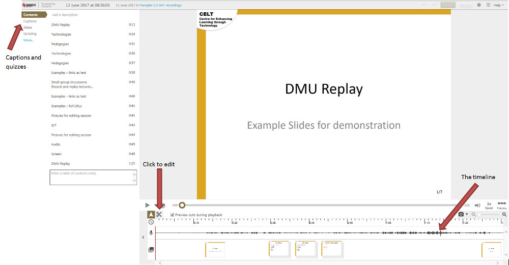 The DMU Replay Basic Editor