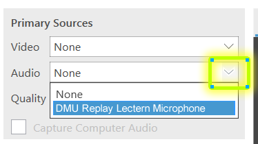 select microphone option