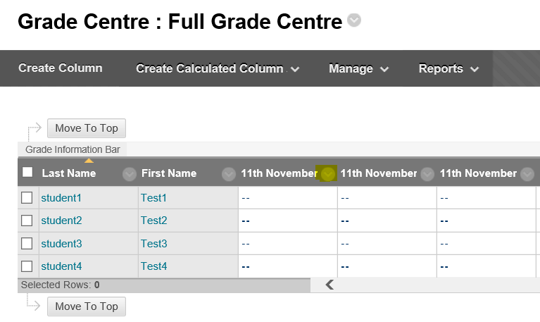 image of grade centre