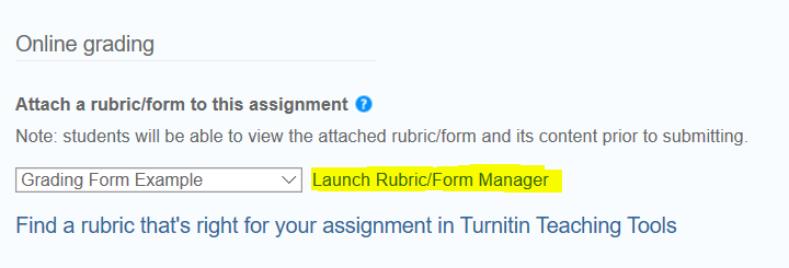 launch rubric link
