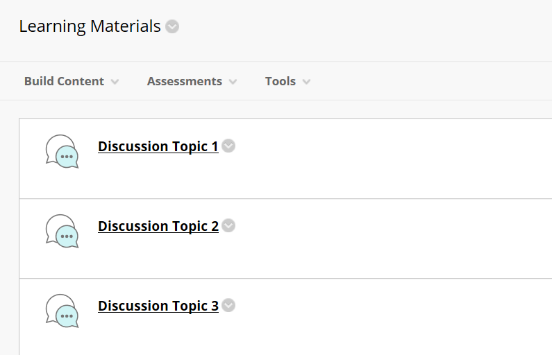 discussion forum topic list