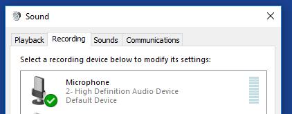 PC recording tab