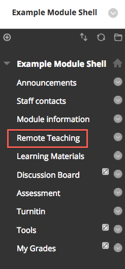 remote teaching tab