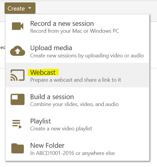 webcast option