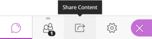 Clicking Share Content