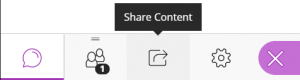 The Share Content button