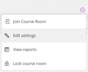 Clicking Edit settings