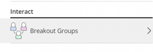 Clicking on Breakout Groups