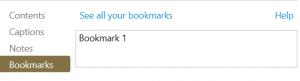 Adding a Bookmark