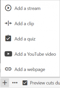 Clicking Add Content