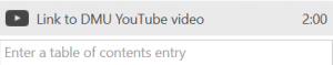 Re-naming the YouTube link in DMU Replay