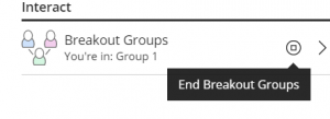 Ending the Breakout rooms