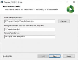 The default DMU Replay settings