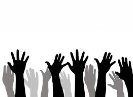 Generic rasied hands icon
