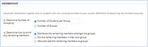 group membership settings