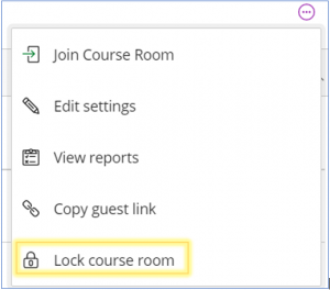 Collaborate - lock course room