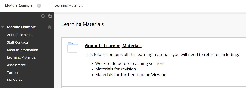 group content folder