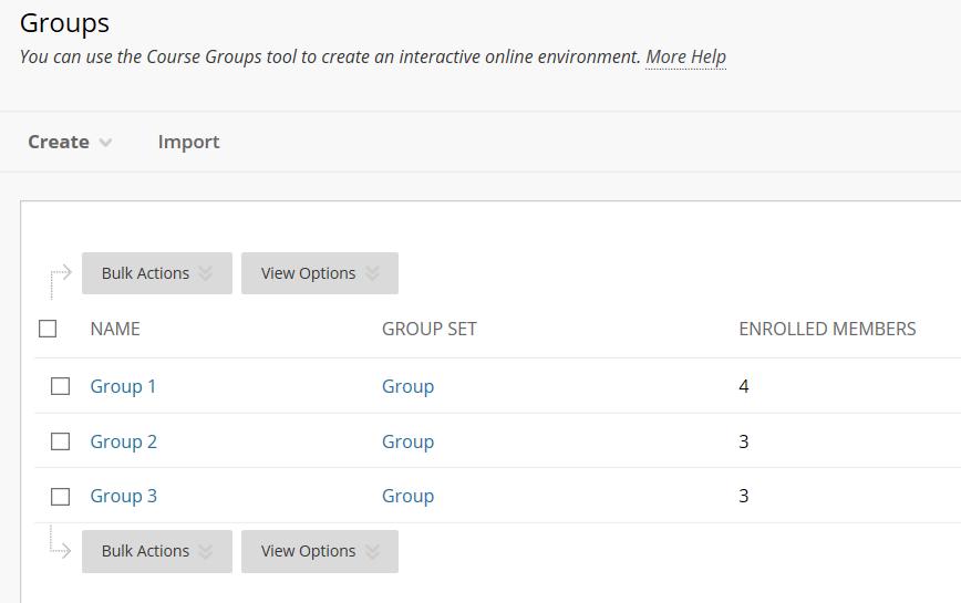 groups list