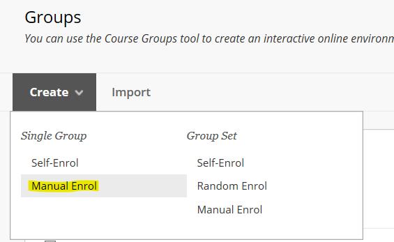 manual enrol option