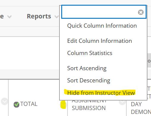 hide option