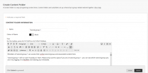 Example Description for Content Folder